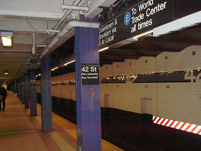 (102k, 640x480)<br><b>Country:</b> United States<br><b>City:</b> New York<br><b>System:</b> New York City Transit<br><b>Line:</b> IND 8th Avenue Line<br><b>Location:</b> 42nd Street/Port Authority Bus Terminal <br><b>Photo by:</b> Bruce Fedow<br><b>Date:</b> 12/4/2005<br><b>Viewed (this week/total):</b> 2 / 2938