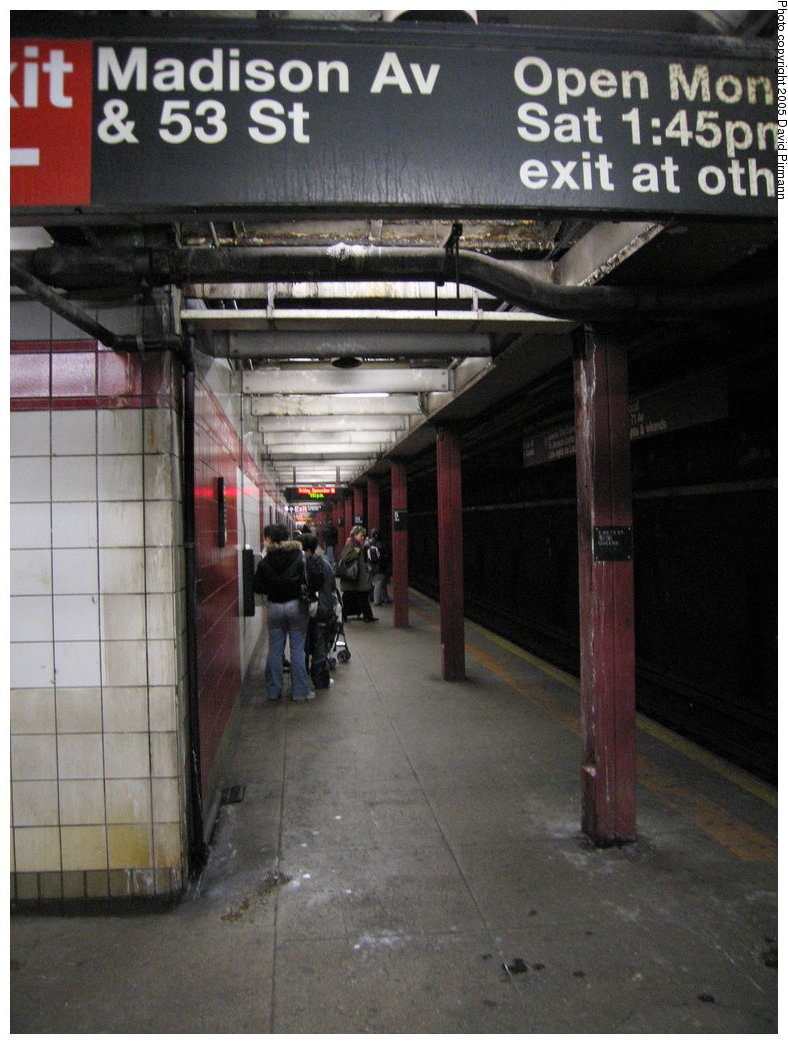 (168k, 788x1044)<br><b>Country:</b> United States<br><b>City:</b> New York<br><b>System:</b> New York City Transit<br><b>Line:</b> IND Queens Boulevard Line<br><b>Location:</b> 5th Avenue/53rd Street <br><b>Photo by:</b> David Pirmann<br><b>Date:</b> 12/30/2005<br><b>Notes:</b> Lower level<br><b>Viewed (this week/total):</b> 0 / 1893