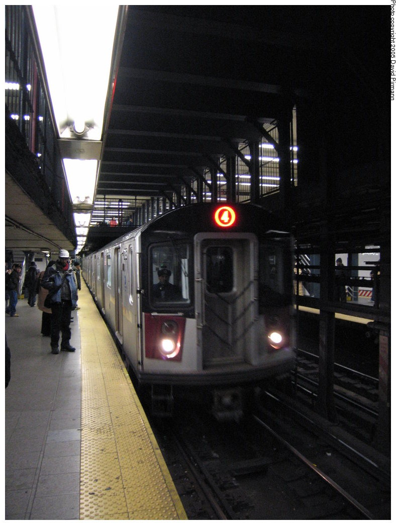 (158k, 788x1044)<br><b>Country:</b> United States<br><b>City:</b> New York<br><b>System:</b> New York City Transit<br><b>Line:</b> IRT East Side Line<br><b>Location:</b> 14th Street/Union Square <br><b>Route:</b> 4<br><b>Car:</b> R-142A (Supplemental Order, Kawasaki, 2003-2004)  7735 <br><b>Photo by:</b> David Pirmann<br><b>Date:</b> 12/30/2005<br><b>Viewed (this week/total):</b> 5 / 4607