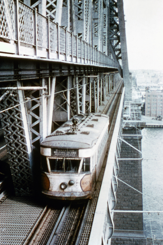 (262k, 689x1023)<br><b>Country:</b> United States<br><b>City:</b> New York<br><b>System:</b> Queensborough Bridge Railway<br><b>Location:</b> Queensborough Bridge <br><b>Car:</b>  603 <br><b>Collection of:</b> David Pirmann<br><b>Viewed (this week/total):</b> 2 / 976