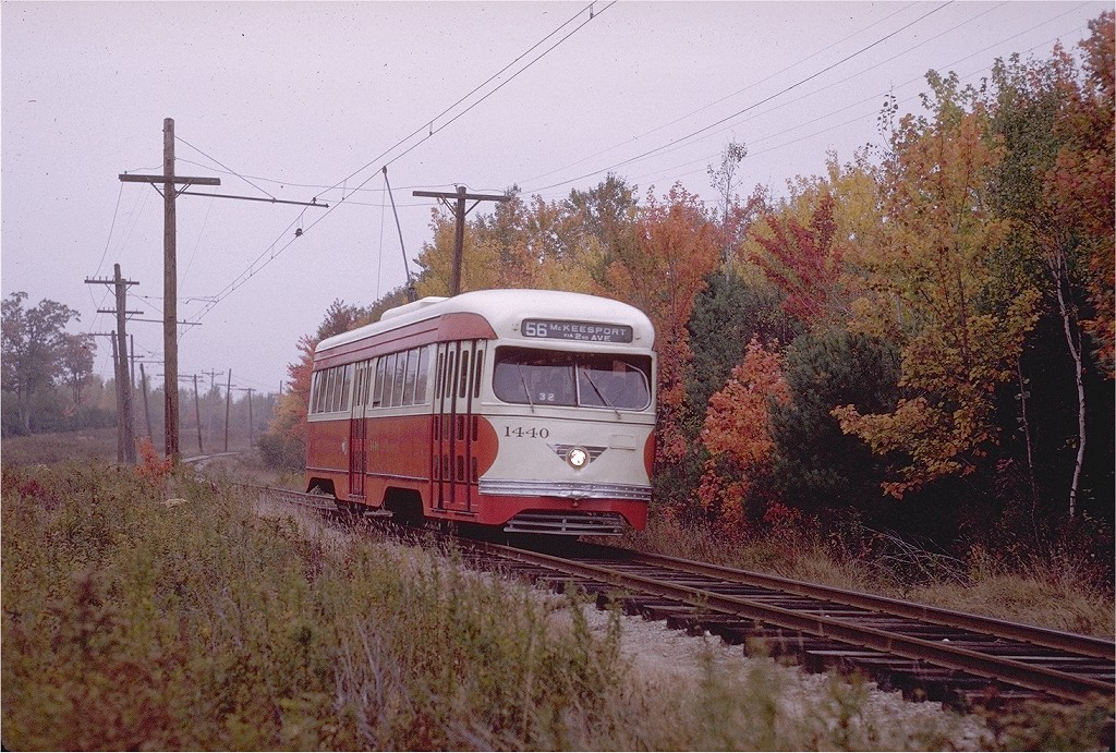 (272k, 1024x691)<br><b>Country:</b> United States<br><b>City:</b> Kennebunk, ME<br><b>System:</b> Seashore Trolley Museum <br><b>Car:</b> Pittsburgh Railways/PAT PCC 1440 <br><b>Photo by:</b> Joe Testagrose<br><b>Date:</b> 10/11/1970<br><b>Viewed (this week/total):</b> 2 / 847