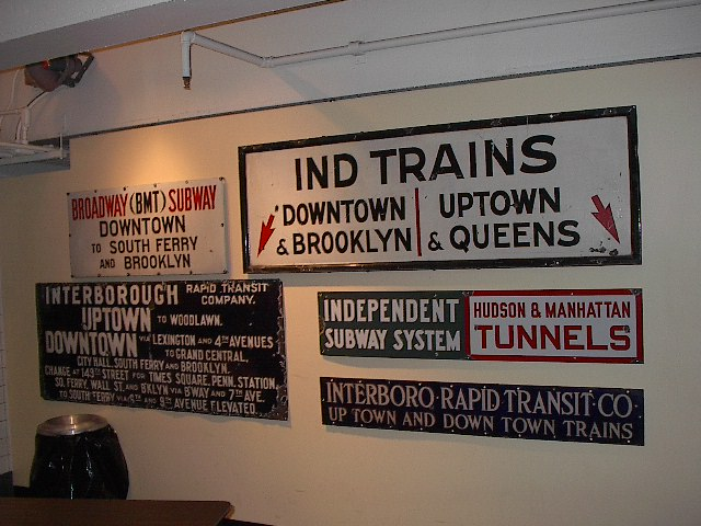 (93k, 640x480)<br><b>Country:</b> United States<br><b>City:</b> New York<br><b>System:</b> New York City Transit<br><b>Location:</b> New York Transit Museum<br><b>Photo by:</b> Bruce Fedow<br><b>Date:</b> 12/28/2005<br><b>Notes:</b> Signage collection at Transit Museum.<br><b>Viewed (this week/total):</b> 0 / 2165