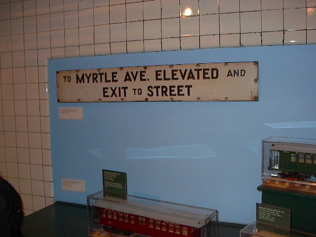 (68k, 640x480)<br><b>Country:</b> United States<br><b>City:</b> New York<br><b>System:</b> New York City Transit<br><b>Location:</b> New York Transit Museum<br><b>Photo by:</b> Bruce Fedow<br><b>Date:</b> 12/28/2005<br><b>Notes:</b> Signage collection at Transit Museum.<br><b>Viewed (this week/total):</b> 2 / 1961