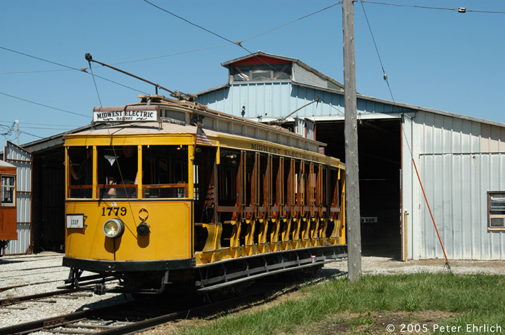 (160k, 720x478)<br><b>Country:</b> United States<br><b>City:</b> Mt. Pleasant, IA<br><b>System:</b> Midwest Old Threshers Museum <br><b>Location:</b> Midwest Threshers Museum -- Trolley Barn<br><b>Car:</b>  1779 <br><b>Photo by:</b> Peter Ehrlich<br><b>Date:</b> 9/1/2005<br><b>Notes:</b> Rio De Janeiro 1779 at the Trolley Barn.<br><b>Viewed (this week/total):</b> 0 / 1421