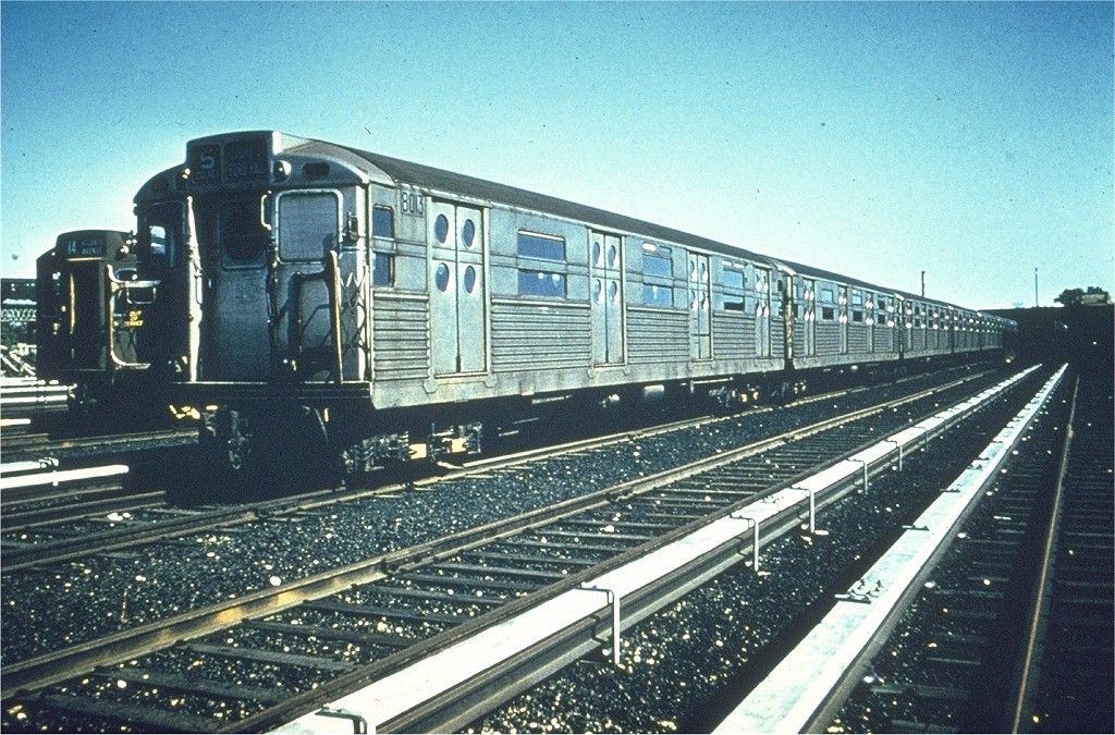 (265k, 1024x675)<br><b>Country:</b> United States<br><b>City:</b> New York<br><b>System:</b> New York City Transit<br><b>Location:</b> Coney Island Yard<br><b>Car:</b> R-11 (Budd, 1949) 8013 <br><b>Photo by:</b> Dick Solomon<br><b>Collection of:</b> Joe Testagrose<br><b>Date:</b> 1/7/1958<br><b>Viewed (this week/total):</b> 4 / 2588