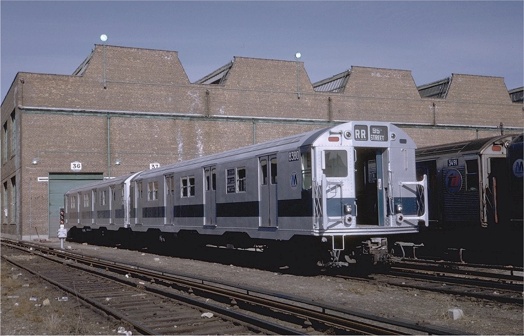 (220k, 1024x658)<br><b>Country:</b> United States<br><b>City:</b> New York<br><b>System:</b> New York City Transit<br><b>Location:</b> Coney Island Yard<br><b>Car:</b> R-30 (St. Louis, 1961) 8380 <br><b>Photo by:</b> Steve Zabel<br><b>Collection of:</b> Joe Testagrose<br><b>Date:</b> 2/12/1971<br><b>Viewed (this week/total):</b> 0 / 2395
