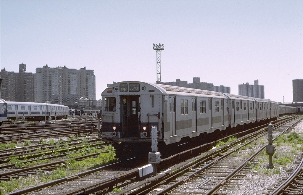 (212k, 1024x659)<br><b>Country:</b> United States<br><b>City:</b> New York<br><b>System:</b> New York City Transit<br><b>Location:</b> Coney Island Yard<br><b>Car:</b> R-30 (St. Louis, 1961) 8380 <br><b>Photo by:</b> Joe Testagrose<br><b>Date:</b> 5/27/1972<br><b>Viewed (this week/total):</b> 0 / 1923