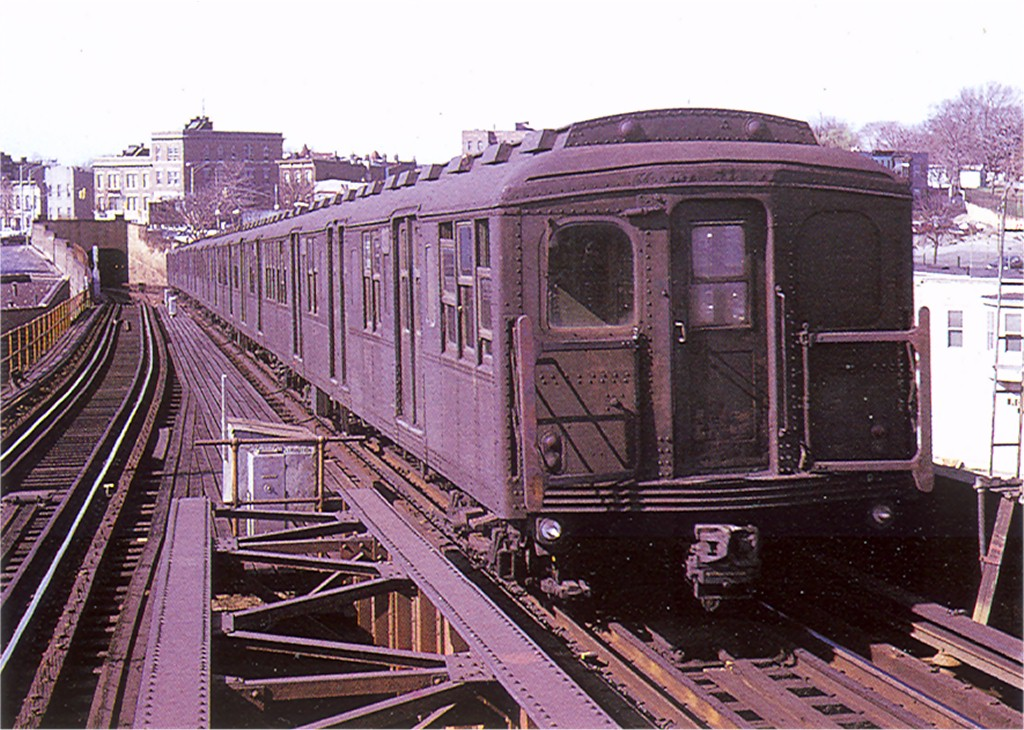 (237k, 1024x730)<br><b>Country:</b> United States<br><b>City:</b> New York<br><b>System:</b> New York City Transit<br><b>Line:</b> BMT Canarsie Line<br><b>Location:</b> Broadway Junction <br><b>Car:</b> BMT A/B-Type Standard  <br><b>Photo by:</b> Doug Grotjahn<br><b>Collection of:</b> Joe Testagrose<br><b>Date:</b> 1969<br><b>Viewed (this week/total):</b> 0 / 1900