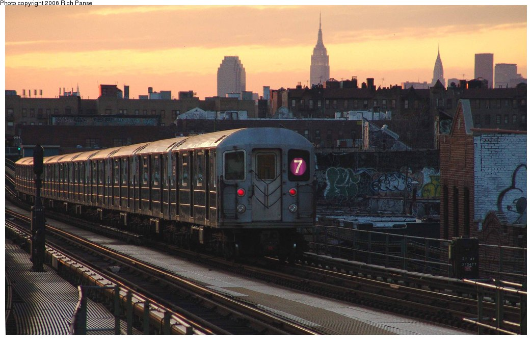 (159k, 1044x667)<br><b>Country:</b> United States<br><b>City:</b> New York<br><b>System:</b> New York City Transit<br><b>Line:</b> IRT Flushing Line<br><b>Location:</b> Junction Boulevard <br><b>Route:</b> 7<br><b>Car:</b> R-62A (Bombardier, 1984-1987)   <br><b>Photo by:</b> Richard Panse<br><b>Date:</b> 1/24/2006<br><b>Viewed (this week/total):</b> 0 / 2429