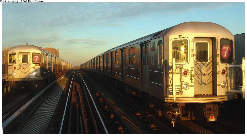(131k, 1044x575)<br><b>Country:</b> United States<br><b>City:</b> New York<br><b>System:</b> New York City Transit<br><b>Line:</b> IRT Flushing Line<br><b>Location:</b> 52nd Street/Lincoln Avenue <br><b>Route:</b> 7<br><b>Car:</b> R-62A (Bombardier, 1984-1987)  1741 <br><b>Photo by:</b> Richard Panse<br><b>Date:</b> 1/24/2006<br><b>Viewed (this week/total):</b> 5 / 1538
