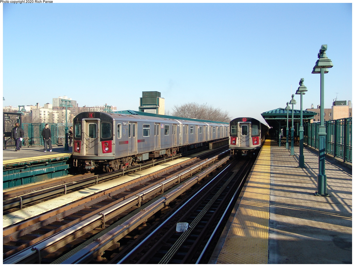 (264k, 1044x788)<br><b>Country:</b> United States<br><b>City:</b> New York<br><b>System:</b> New York City Transit<br><b>Line:</b> IRT Woodlawn Line<br><b>Location:</b> 161st Street/River Avenue (Yankee Stadium) <br><b>Route:</b> 4<br><b>Car:</b> R-142 (Option Order, Bombardier, 2002-2003)  7091 <br><b>Photo by:</b> Richard Panse<br><b>Date:</b> 1/24/2006<br><b>Viewed (this week/total):</b> 1 / 3939