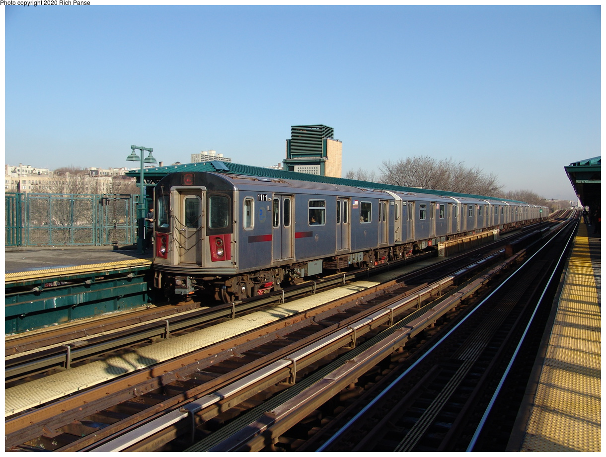 (255k, 1044x788)<br><b>Country:</b> United States<br><b>City:</b> New York<br><b>System:</b> New York City Transit<br><b>Line:</b> IRT Woodlawn Line<br><b>Location:</b> 161st Street/River Avenue (Yankee Stadium) <br><b>Route:</b> 4<br><b>Car:</b> R-142 (Option Order, Bombardier, 2002-2003)  1111 <br><b>Photo by:</b> Richard Panse<br><b>Date:</b> 1/24/2006<br><b>Viewed (this week/total):</b> 2 / 3301