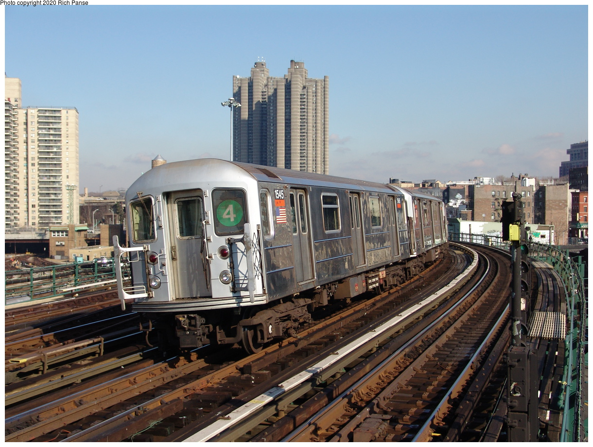 (270k, 1044x788)<br><b>Country:</b> United States<br><b>City:</b> New York<br><b>System:</b> New York City Transit<br><b>Line:</b> IRT Woodlawn Line<br><b>Location:</b> Bedford Park Boulevard <br><b>Route:</b> 4<br><b>Car:</b> R-62 (Kawasaki, 1983-1985)  1545 <br><b>Photo by:</b> Richard Panse<br><b>Date:</b> 1/24/2006<br><b>Viewed (this week/total):</b> 1 / 3141