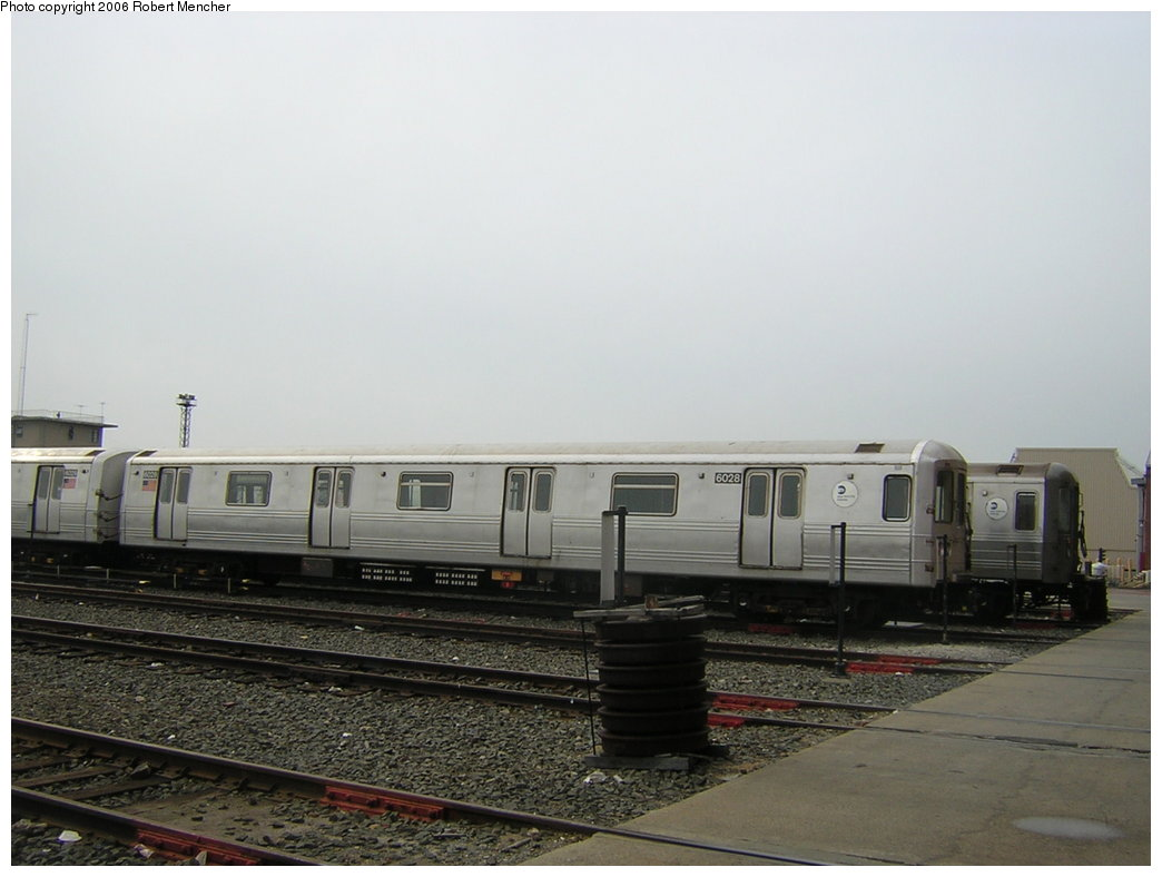 (151k, 1044x788)<br><b>Country:</b> United States<br><b>City:</b> New York<br><b>System:</b> New York City Transit<br><b>Location:</b> Coney Island Yard<br><b>Car:</b> R-46 (Pullman-Standard, 1974-75) 6028 <br><b>Photo by:</b> Robert Mencher<br><b>Date:</b> 2/10/2006<br><b>Viewed (this week/total):</b> 0 / 2135