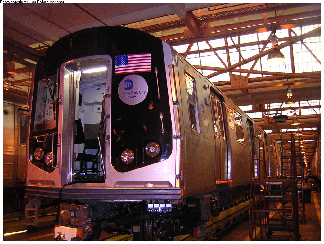 (264k, 1044x788)<br><b>Country:</b> United States<br><b>City:</b> New York<br><b>System:</b> New York City Transit<br><b>Location:</b> Coney Island Shop/Overhaul & Repair Shop<br><b>Car:</b> R-160A-2 (Alstom, 2005-2008, 5 car sets)  8653 <br><b>Photo by:</b> Robert Mencher<br><b>Date:</b> 2/10/2006<br><b>Viewed (this week/total):</b> 0 / 2901