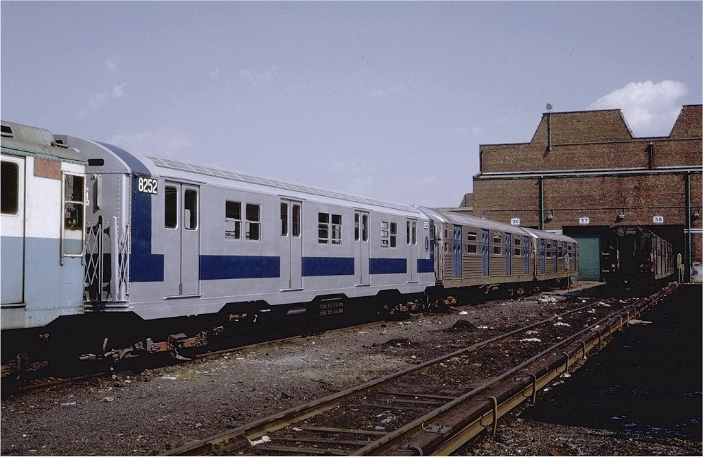 (213k, 1024x665)<br><b>Country:</b> United States<br><b>City:</b> New York<br><b>System:</b> New York City Transit<br><b>Location:</b> Coney Island Yard<br><b>Car:</b> R-30 (St. Louis, 1961) 8252 <br><b>Photo by:</b> Steve Zabel<br><b>Collection of:</b> Joe Testagrose<br><b>Date:</b> 5/25/1971<br><b>Viewed (this week/total):</b> 6 / 1675