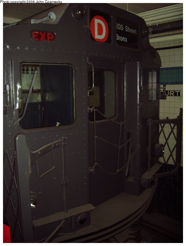 (96k, 620x820)<br><b>Country:</b> United States<br><b>City:</b> New York<br><b>System:</b> New York City Transit<br><b>Location:</b> New York Transit Museum<br><b>Car:</b> R-10 (American Car & Foundry, 1948) 3184 <br><b>Photo by:</b> John Czarnecky<br><b>Date:</b> 2/28/2006<br><b>Viewed (this week/total):</b> 1 / 4240