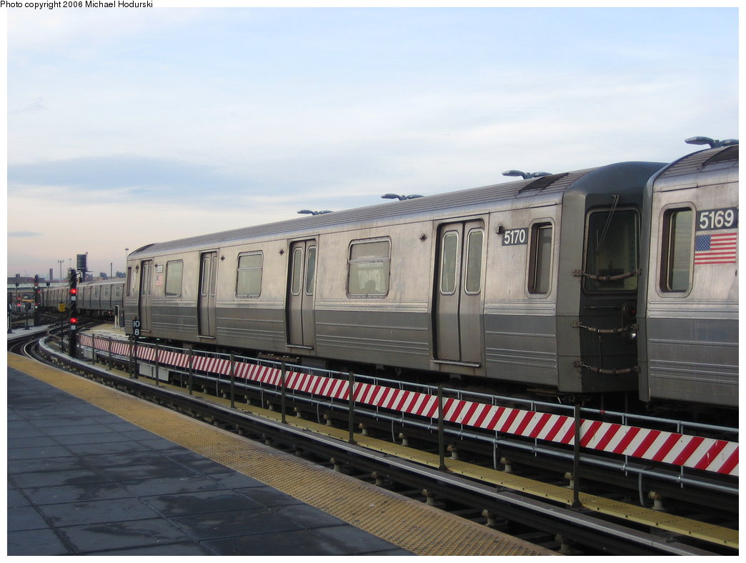 (152k, 1044x788)<br><b>Country:</b> United States<br><b>City:</b> New York<br><b>System:</b> New York City Transit<br><b>Location:</b> Coney Island/Stillwell Avenue<br><b>Route:</b> Q<br><b>Car:</b> R-68A (Kawasaki, 1988-1989)  5170 <br><b>Photo by:</b> Michael Hodurski<br><b>Date:</b> 3/8/2006<br><b>Viewed (this week/total):</b> 0 / 1769