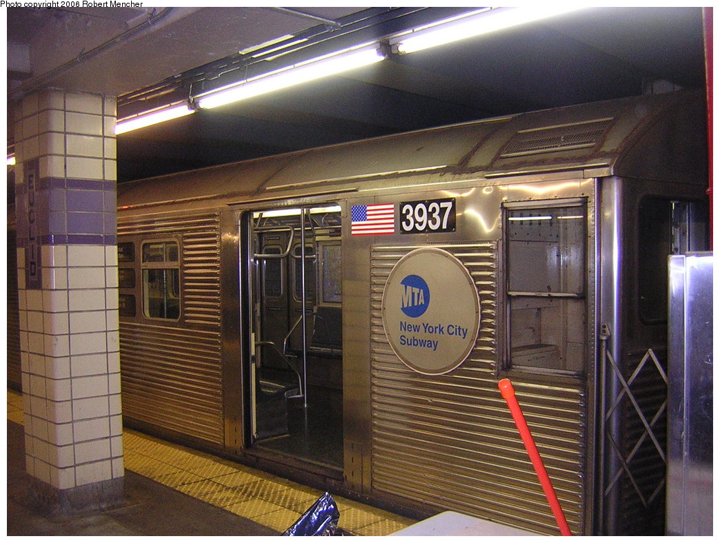 (246k, 1044x788)<br><b>Country:</b> United States<br><b>City:</b> New York<br><b>System:</b> New York City Transit<br><b>Line:</b> IND Fulton Street Line<br><b>Location:</b> Euclid Avenue <br><b>Route:</b> C<br><b>Car:</b> R-32 (GE Rebuild) 3937 <br><b>Photo by:</b> Robert Mencher<br><b>Date:</b> 3/25/2006<br><b>Viewed (this week/total):</b> 3 / 2617