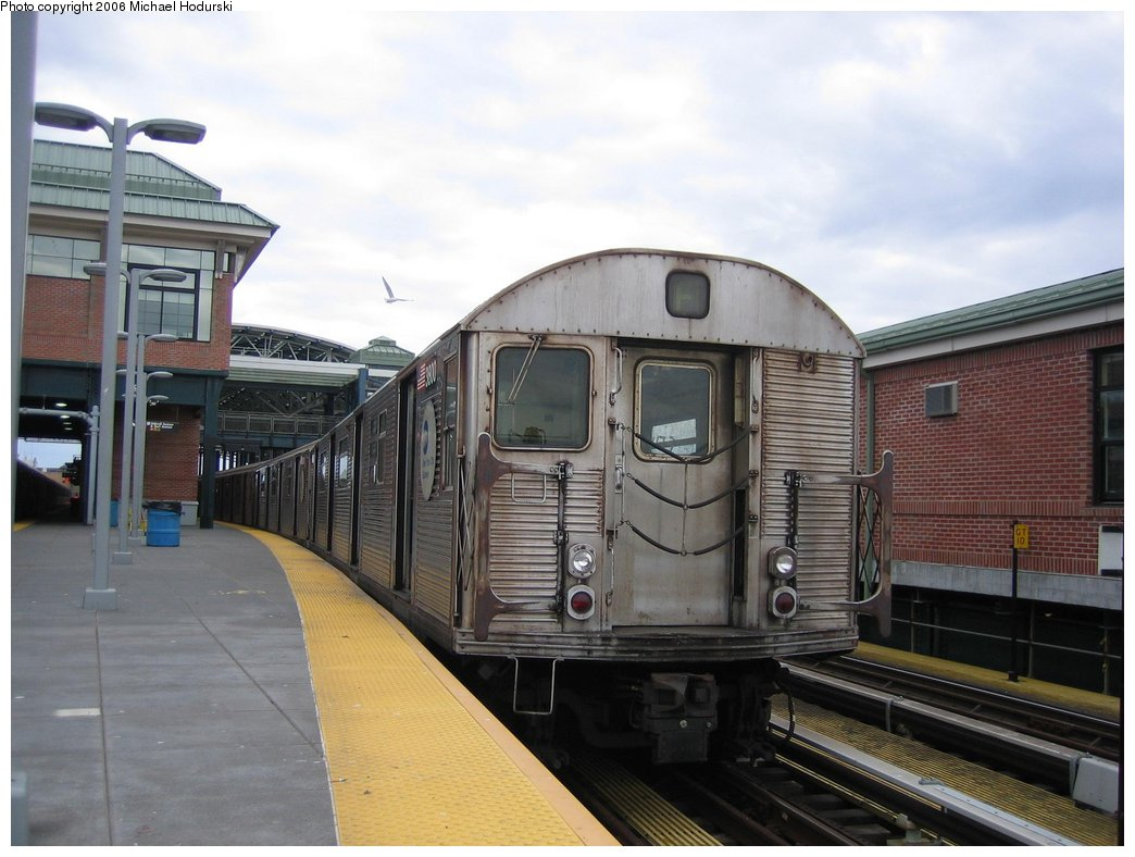 (152k, 1044x788)<br><b>Country:</b> United States<br><b>City:</b> New York<br><b>System:</b> New York City Transit<br><b>Location:</b> Coney Island/Stillwell Avenue<br><b>Route:</b> F<br><b>Car:</b> R-32 (Budd, 1964)  3800 <br><b>Photo by:</b> Michael Hodurski<br><b>Date:</b> 3/24/2006<br><b>Viewed (this week/total):</b> 7 / 2306