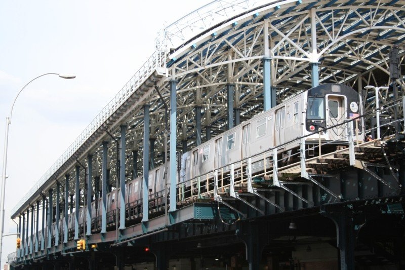 (114k, 800x533)<br><b>Country:</b> United States<br><b>City:</b> New York<br><b>System:</b> New York City Transit<br><b>Location:</b> Coney Island/Stillwell Avenue<br><b>Car:</b> R-143 (Kawasaki, 2001-2002) 8200 <br><b>Photo by:</b> Neil Feldman<br><b>Date:</b> 3/24/2006<br><b>Viewed (this week/total):</b> 0 / 5134