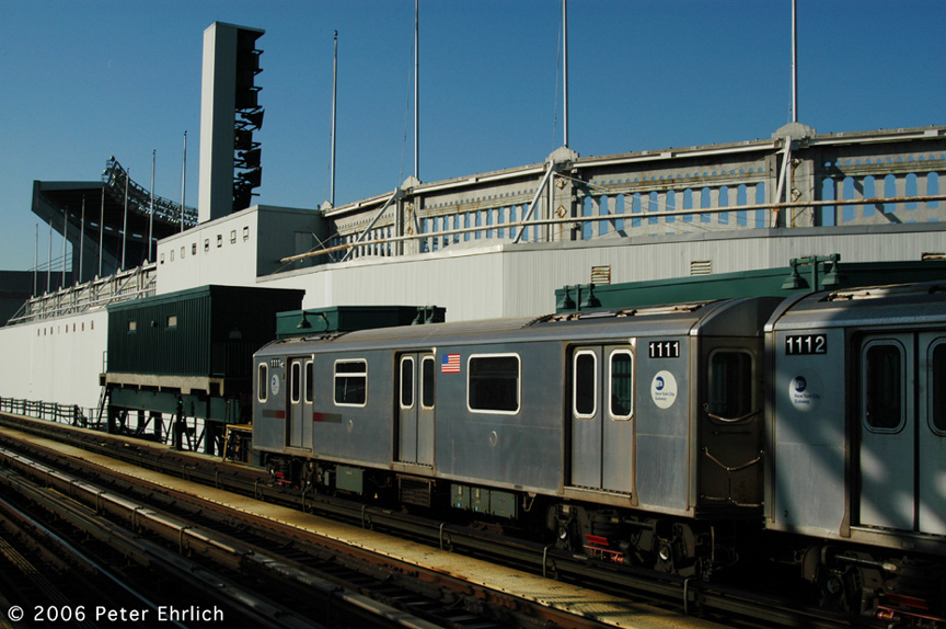 (196k, 864x574)<br><b>Country:</b> United States<br><b>City:</b> New York<br><b>System:</b> New York City Transit<br><b>Line:</b> IRT Woodlawn Line<br><b>Location:</b> 161st Street/River Avenue (Yankee Stadium) <br><b>Car:</b> R-142 (Option Order, Bombardier, 2002-2003)  1111 <br><b>Photo by:</b> Peter Ehrlich<br><b>Date:</b> 1/24/2006<br><b>Viewed (this week/total):</b> 2 / 2608