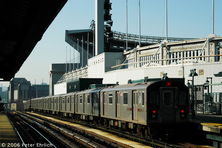 (212k, 864x574)<br><b>Country:</b> United States<br><b>City:</b> New York<br><b>System:</b> New York City Transit<br><b>Line:</b> IRT Woodlawn Line<br><b>Location:</b> 161st Street/River Avenue (Yankee Stadium) <br><b>Car:</b> R-142 (Option Order, Bombardier, 2002-2003)  1156 <br><b>Photo by:</b> Peter Ehrlich<br><b>Date:</b> 1/24/2006<br><b>Viewed (this week/total):</b> 2 / 3269