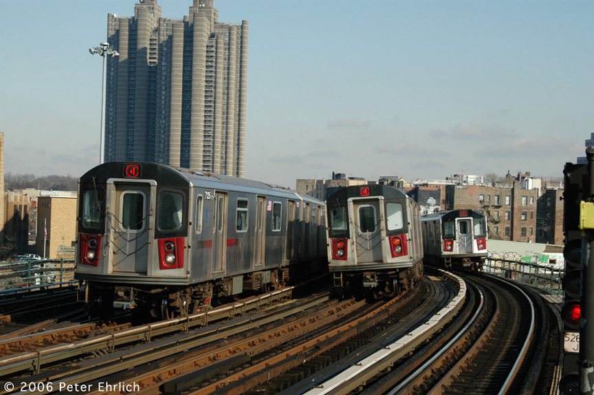 (200k, 864x574)<br><b>Country:</b> United States<br><b>City:</b> New York<br><b>System:</b> New York City Transit<br><b>Line:</b> IRT Woodlawn Line<br><b>Location:</b> Bedford Park Boulevard <br><b>Car:</b> R-142 (Option Order, Bombardier, 2002-2003)  7125 <br><b>Photo by:</b> Peter Ehrlich<br><b>Date:</b> 1/24/2006<br><b>Viewed (this week/total):</b> 3 / 2949