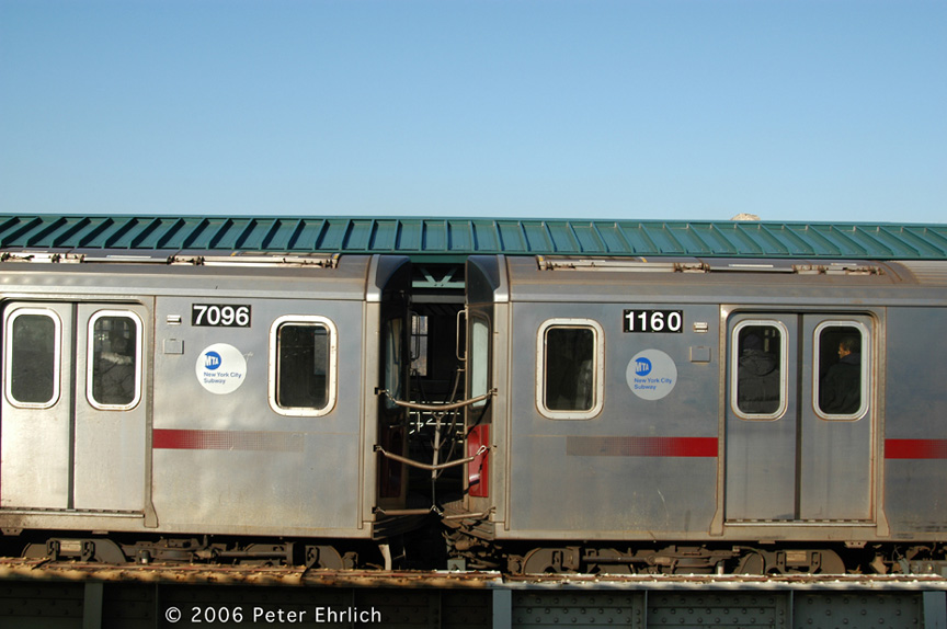 (157k, 864x574)<br><b>Country:</b> United States<br><b>City:</b> New York<br><b>System:</b> New York City Transit<br><b>Line:</b> IRT Woodlawn Line<br><b>Location:</b> 161st Street/River Avenue (Yankee Stadium) <br><b>Car:</b> R-142 (Option Order, Bombardier, 2002-2003)  7096/1160 <br><b>Photo by:</b> Peter Ehrlich<br><b>Date:</b> 1/24/2006<br><b>Viewed (this week/total):</b> 8 / 3856
