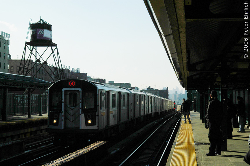 (167k, 864x574)<br><b>Country:</b> United States<br><b>City:</b> New York<br><b>System:</b> New York City Transit<br><b>Line:</b> IRT Woodlawn Line<br><b>Location:</b> 161st Street/River Avenue (Yankee Stadium) <br><b>Car:</b> R-142A (Option Order, Kawasaki, 2002-2003)  7720 <br><b>Photo by:</b> Peter Ehrlich<br><b>Date:</b> 1/24/2006<br><b>Viewed (this week/total):</b> 3 / 2028