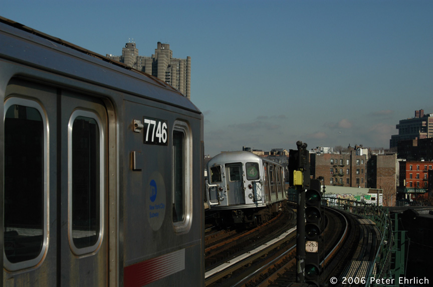 (139k, 864x574)<br><b>Country:</b> United States<br><b>City:</b> New York<br><b>System:</b> New York City Transit<br><b>Line:</b> IRT Woodlawn Line<br><b>Location:</b> Bedford Park Boulevard <br><b>Car:</b> R-142A (Supplemental Order, Kawasaki, 2003-2004)  7746 <br><b>Photo by:</b> Peter Ehrlich<br><b>Date:</b> 1/24/2006<br><b>Viewed (this week/total):</b> 2 / 3716