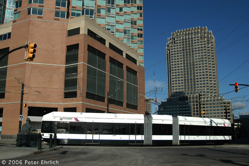 (215k, 864x574)<br><b>Country:</b> United States<br><b>City:</b> Jersey City, NJ<br><b>System:</b> Hudson Bergen Light Rail<br><b>Location:</b> Essex Street <br><b>Car:</b> NJT-HBLR LRV (Kinki-Sharyo, 1998-99)  2010 <br><b>Photo by:</b> Peter Ehrlich<br><b>Date:</b> 1/25/2006<br><b>Viewed (this week/total):</b> 0 / 1468