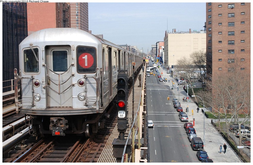 (225k, 1044x682)<br><b>Country:</b> United States<br><b>City:</b> New York<br><b>System:</b> New York City Transit<br><b>Line:</b> IRT West Side Line<br><b>Location:</b> 125th Street <br><b>Route:</b> 1<br><b>Car:</b> R-62A (Bombardier, 1984-1987)   <br><b>Photo by:</b> Richard Chase<br><b>Date:</b> 3/25/2010<br><b>Viewed (this week/total):</b> 6 / 970