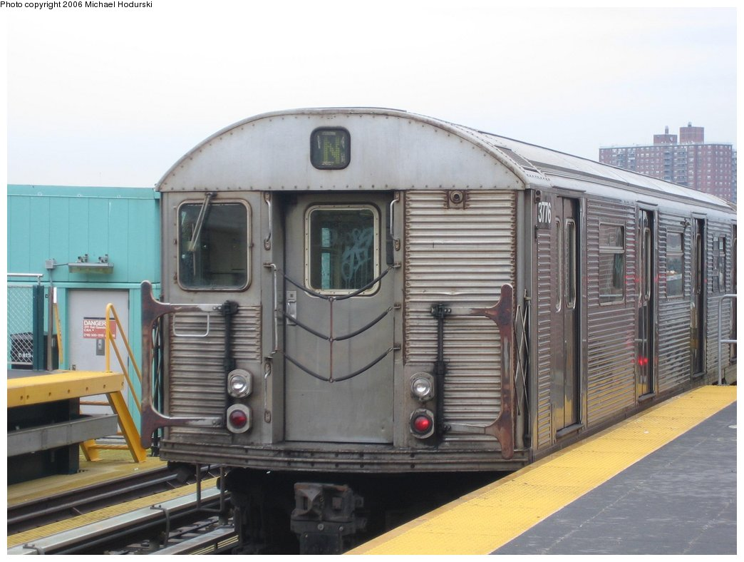 (143k, 1044x788)<br><b>Country:</b> United States<br><b>City:</b> New York<br><b>System:</b> New York City Transit<br><b>Location:</b> Coney Island/Stillwell Avenue<br><b>Route:</b> N<br><b>Car:</b> R-32 (Budd, 1964)  3776 <br><b>Photo by:</b> Michael Hodurski<br><b>Date:</b> 4/14/2006<br><b>Viewed (this week/total):</b> 0 / 1911