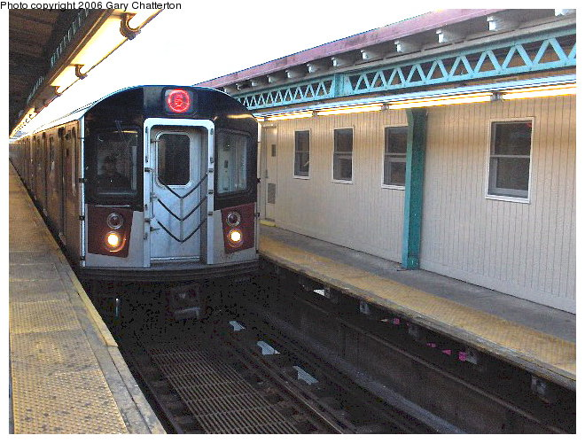 (106k, 660x500)<br><b>Country:</b> United States<br><b>City:</b> New York<br><b>System:</b> New York City Transit<br><b>Line:</b> IRT Pelham Line<br><b>Location:</b> Pelham Bay Park <br><b>Route:</b> 6<br><b>Car:</b> R-142A (Primary Order, Kawasaki, 1999-2002)  7371 <br><b>Photo by:</b> Gary Chatterton<br><b>Date:</b> 4/1/2006<br><b>Viewed (this week/total):</b> 2 / 4727