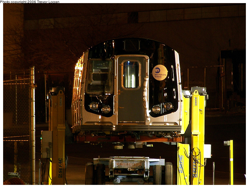 (193k, 801x606)<br><b>Country:</b> United States<br><b>City:</b> New York<br><b>System:</b> New York City Transit<br><b>Location:</b> Kawasaki Plant, Yonkers, NY<br><b>Car:</b> R-160B (Kawasaki, 2005-2008)  8848 <br><b>Photo by:</b> Trevor Logan<br><b>Date:</b> 4/11/2006<br><b>Viewed (this week/total):</b> 3 / 4995