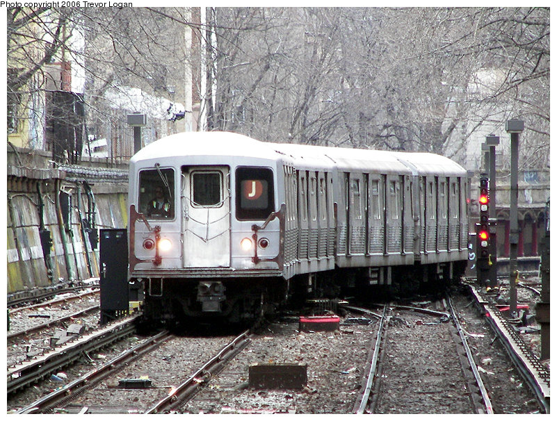 (270k, 801x606)<br><b>Country:</b> United States<br><b>City:</b> New York<br><b>System:</b> New York City Transit<br><b>Line:</b> BMT Brighton Line<br><b>Location:</b> Prospect Park <br><b>Route:</b> J<br><b>Car:</b> R-42 (St. Louis, 1969-1970)  4945 <br><b>Photo by:</b> Trevor Logan<br><b>Date:</b> 2/12/2006<br><b>Viewed (this week/total):</b> 2 / 4186