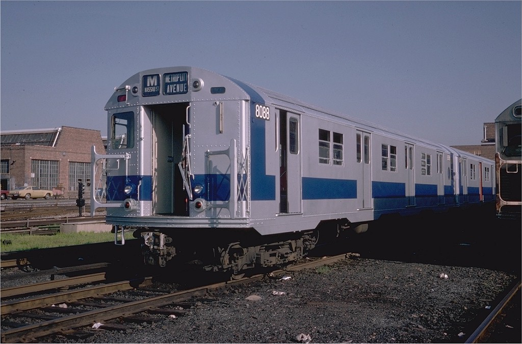 (181k, 1024x676)<br><b>Country:</b> United States<br><b>City:</b> New York<br><b>System:</b> New York City Transit<br><b>Location:</b> Coney Island Yard<br><b>Car:</b> R-27 (St. Louis, 1960)  8088 <br><b>Photo by:</b> Steve Zabel<br><b>Collection of:</b> Joe Testagrose<br><b>Date:</b> 8/31/1979<br><b>Viewed (this week/total):</b> 1 / 2528