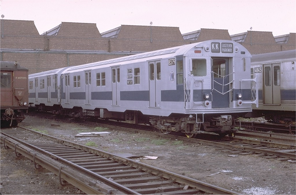 (234k, 1024x677)<br><b>Country:</b> United States<br><b>City:</b> New York<br><b>System:</b> New York City Transit<br><b>Location:</b> Coney Island Yard<br><b>Car:</b> R-30 (St. Louis, 1961) 8379 <br><b>Photo by:</b> Joe Testagrose<br><b>Date:</b> 4/25/1971<br><b>Viewed (this week/total):</b> 2 / 2076