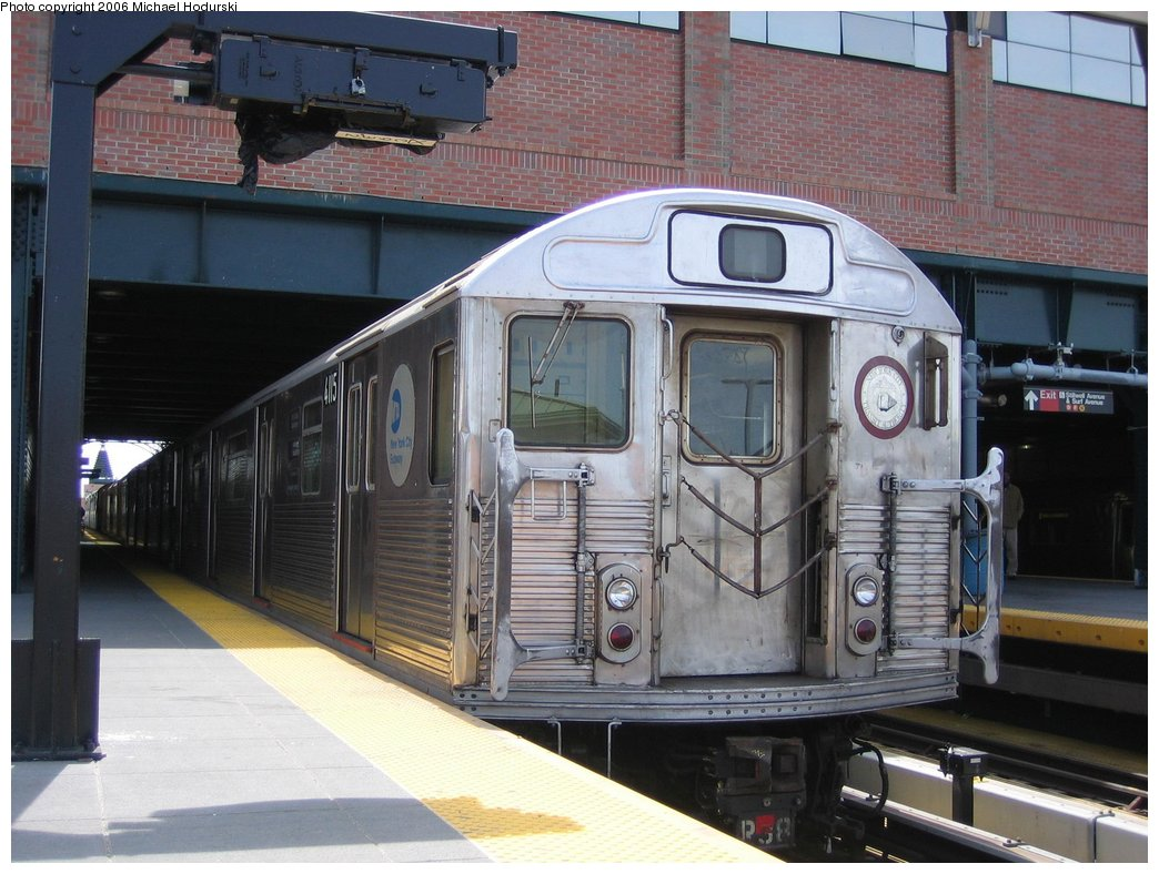 (174k, 1044x788)<br><b>Country:</b> United States<br><b>City:</b> New York<br><b>System:</b> New York City Transit<br><b>Location:</b> Coney Island/Stillwell Avenue<br><b>Route:</b> Work Service<br><b>Car:</b> R-38 (St. Louis, 1966-1967)  4115 <br><b>Photo by:</b> Michael Hodurski<br><b>Date:</b> 4/21/2006<br><b>Viewed (this week/total):</b> 3 / 4051