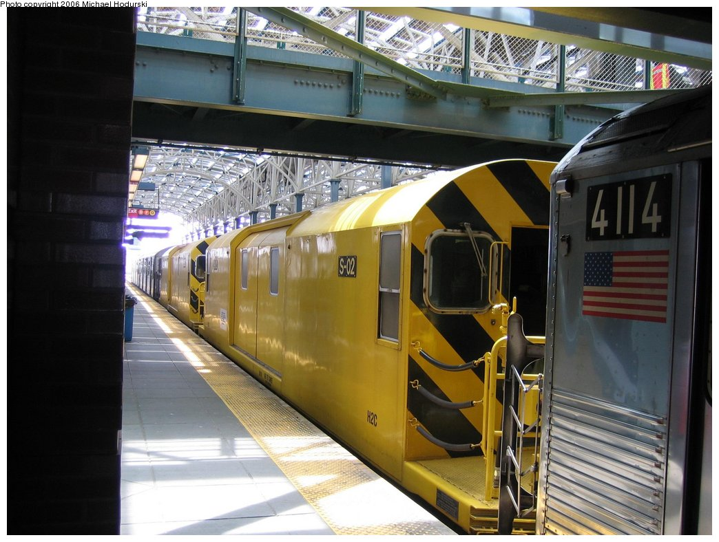 (174k, 1044x788)<br><b>Country:</b> United States<br><b>City:</b> New York<br><b>System:</b> New York City Transit<br><b>Location:</b> Coney Island/Stillwell Avenue<br><b>Route:</b> Work Service<br><b>Car:</b> R-74 Signal Supply (Fuji Heavy Industries, 1984)  02 <br><b>Photo by:</b> Michael Hodurski<br><b>Date:</b> 4/21/2006<br><b>Viewed (this week/total):</b> 5 / 2968
