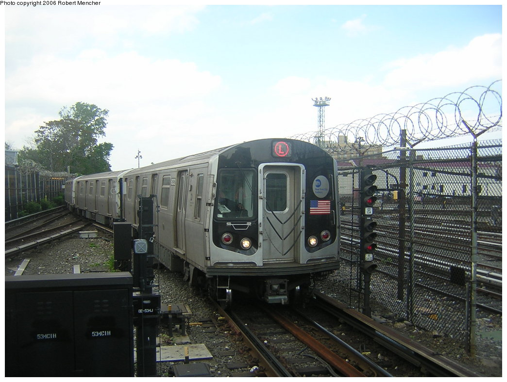 (202k, 1044x788)<br><b>Country:</b> United States<br><b>City:</b> New York<br><b>System:</b> New York City Transit<br><b>Line:</b> BMT Canarsie Line<br><b>Location:</b> Rockaway Parkway <br><b>Route:</b> L<br><b>Car:</b> R-143 (Kawasaki, 2001-2002)  <br><b>Photo by:</b> Robert Mencher<br><b>Date:</b> 5/17/2006<br><b>Viewed (this week/total):</b> 2 / 2926