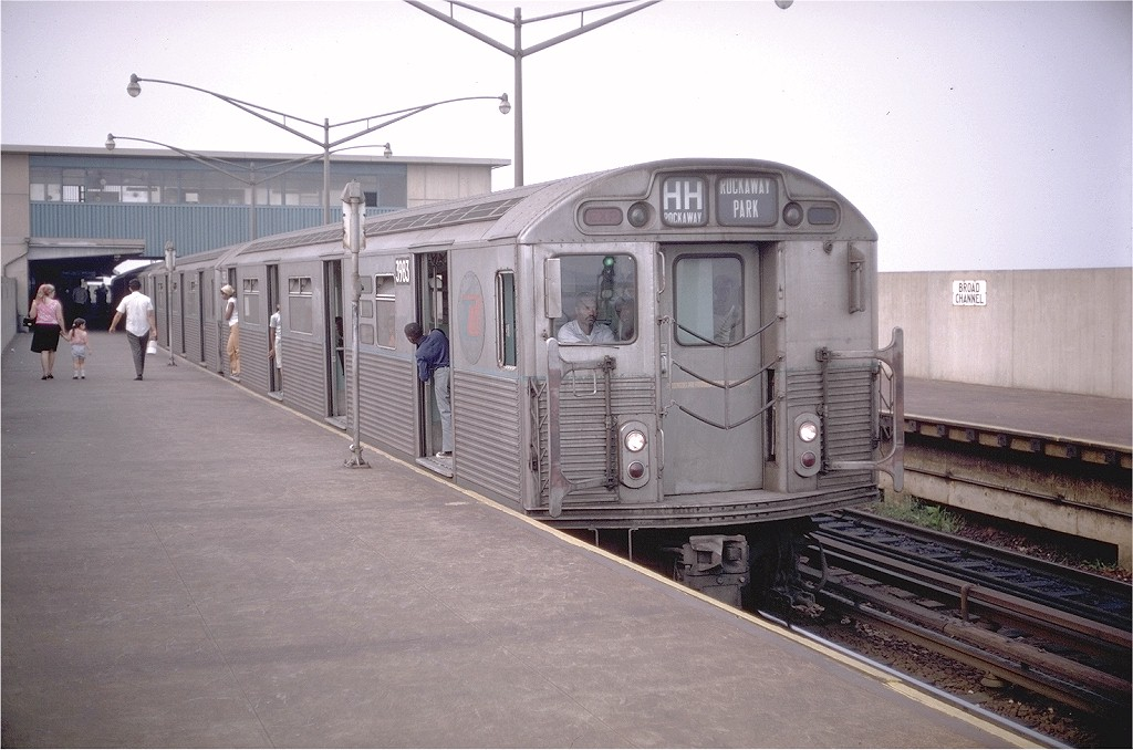 (177k, 1024x678)<br><b>Country:</b> United States<br><b>City:</b> New York<br><b>System:</b> New York City Transit<br><b>Line:</b> IND Rockaway<br><b>Location:</b> Broad Channel <br><b>Route:</b> HH<br><b>Car:</b> R-38 (St. Louis, 1966-1967)  3983 <br><b>Photo by:</b> Doug Grotjahn<br><b>Collection of:</b> Joe Testagrose<br><b>Date:</b> 9/1/1969<br><b>Viewed (this week/total):</b> 0 / 4627