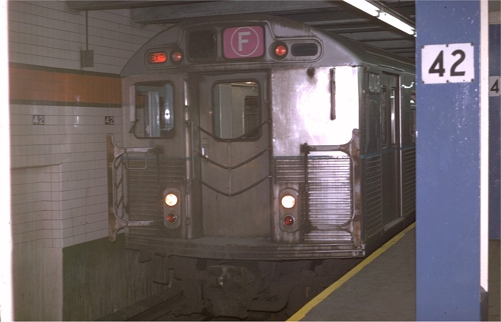(135k, 1024x659)<br><b>Country:</b> United States<br><b>City:</b> New York<br><b>System:</b> New York City Transit<br><b>Line:</b> IND 6th Avenue Line<br><b>Location:</b> 42nd Street/Bryant Park <br><b>Route:</b> F<br><b>Car:</b> R-38 (St. Louis, 1966-1967)  4048 <br><b>Photo by:</b> Joe Testagrose<br><b>Date:</b> 4/29/1970<br><b>Viewed (this week/total):</b> 3 / 4092
