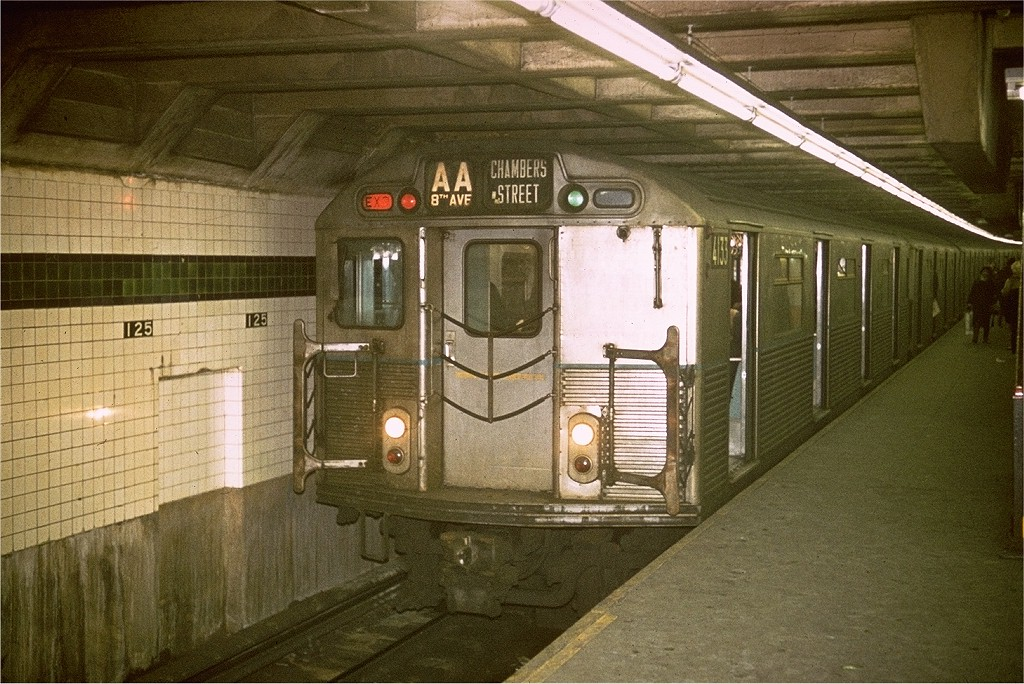 (241k, 1024x684)<br><b>Country:</b> United States<br><b>City:</b> New York<br><b>System:</b> New York City Transit<br><b>Line:</b> IND 8th Avenue Line<br><b>Location:</b> 125th Street <br><b>Route:</b> AA<br><b>Car:</b> R-38 (St. Louis, 1966-1967)  4135 <br><b>Photo by:</b> Steve Zabel<br><b>Collection of:</b> Joe Testagrose<br><b>Date:</b> 1/1970<br><b>Viewed (this week/total):</b> 6 / 4764