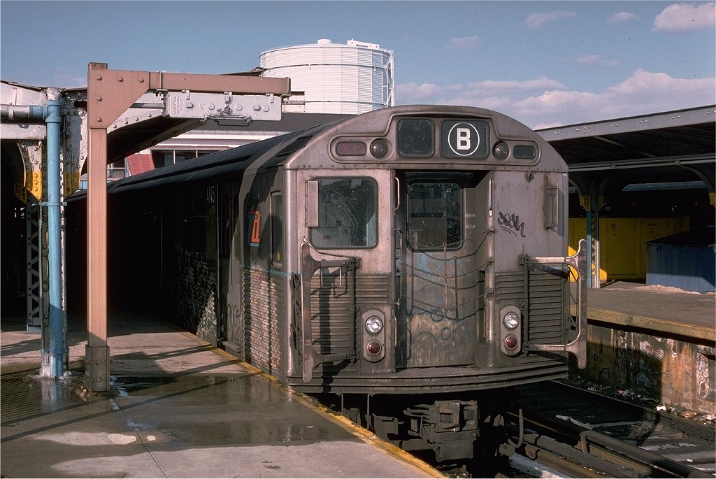 (219k, 1024x685)<br><b>Country:</b> United States<br><b>City:</b> New York<br><b>System:</b> New York City Transit<br><b>Location:</b> Coney Island/Stillwell Avenue<br><b>Route:</b> B<br><b>Car:</b> R-38 (St. Louis, 1966-1967)  4145 <br><b>Photo by:</b> Joe Testagrose<br><b>Date:</b> 1/26/1977<br><b>Viewed (this week/total):</b> 1 / 3661