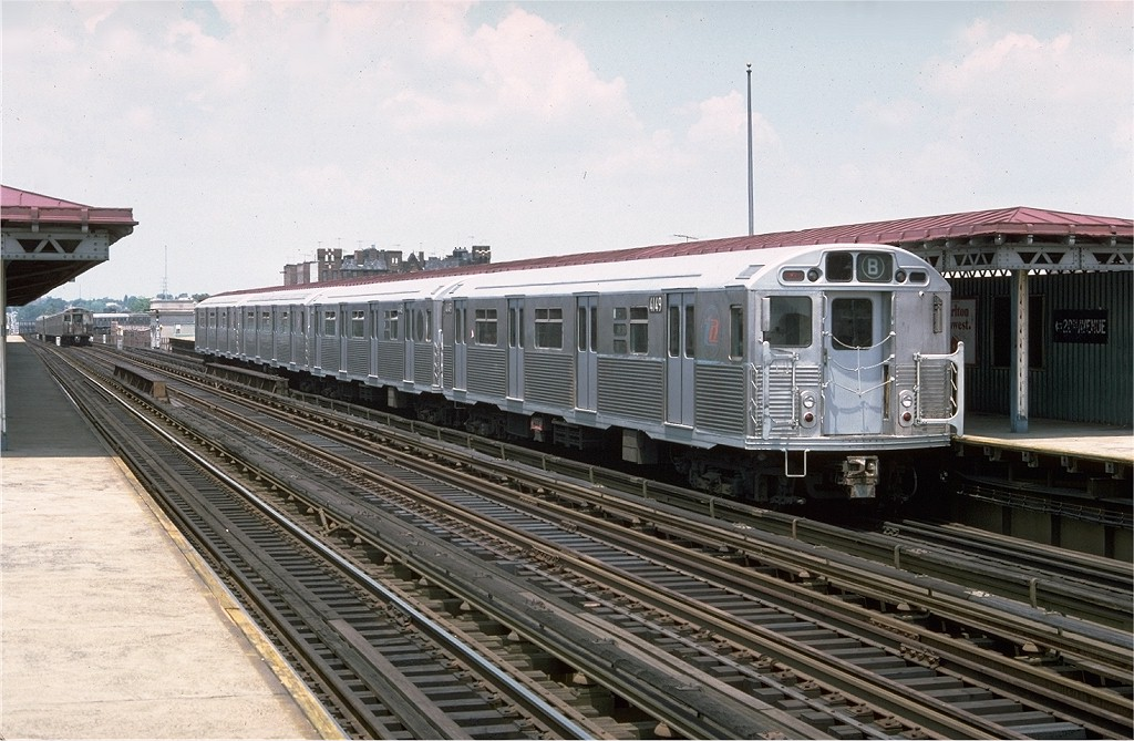 (203k, 1024x669)<br><b>Country:</b> United States<br><b>City:</b> New York<br><b>System:</b> New York City Transit<br><b>Line:</b> BMT West End Line<br><b>Location:</b> 20th Avenue <br><b>Route:</b> B<br><b>Car:</b> R-38 (St. Louis, 1966-1967)  4149 <br><b>Photo by:</b> Doug Grotjahn<br><b>Collection of:</b> Joe Testagrose<br><b>Date:</b> 6/26/1977<br><b>Viewed (this week/total):</b> 2 / 4471