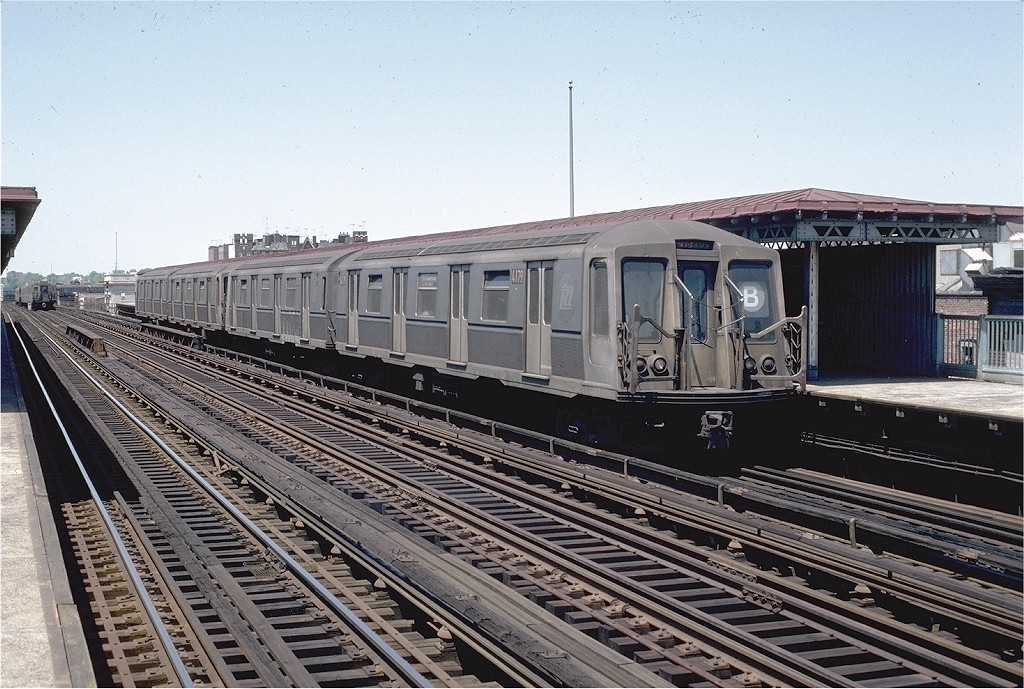 (246k, 1024x689)<br><b>Country:</b> United States<br><b>City:</b> New York<br><b>System:</b> New York City Transit<br><b>Line:</b> BMT West End Line<br><b>Location:</b> 20th Avenue <br><b>Route:</b> B<br><b>Car:</b> R-40 (St. Louis, 1968)  4179 <br><b>Photo by:</b> Doug Grotjahn<br><b>Collection of:</b> Joe Testagrose<br><b>Date:</b> 5/17/1981<br><b>Viewed (this week/total):</b> 0 / 3737