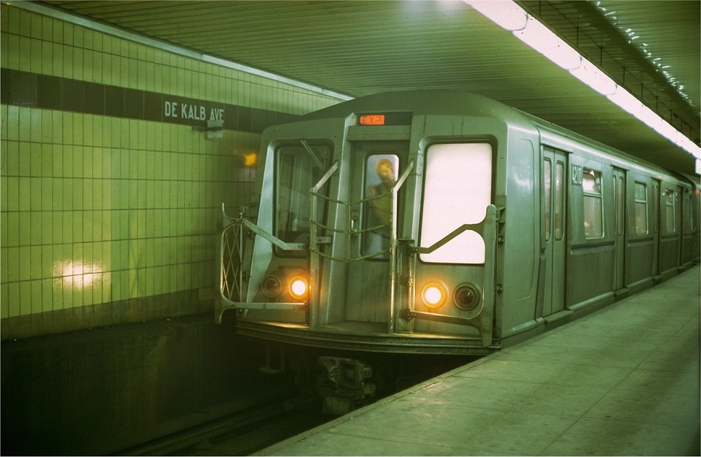 (149k, 1024x667)<br><b>Country:</b> United States<br><b>City:</b> New York<br><b>System:</b> New York City Transit<br><b>Location:</b> DeKalb Avenue<br><b>Car:</b> R-40 (St. Louis, 1968)  4210 <br><b>Photo by:</b> Doug Grotjahn<br><b>Collection of:</b> Joe Testagrose<br><b>Date:</b> 7/5/1969<br><b>Viewed (this week/total):</b> 3 / 3185