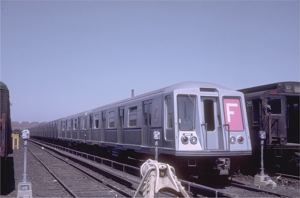 (158k, 1024x675)<br><b>Country:</b> United States<br><b>City:</b> New York<br><b>System:</b> New York City Transit<br><b>Location:</b> Coney Island Yard<br><b>Car:</b> R-40 (St. Louis, 1968)  4396 <br><b>Photo by:</b> Joe Testagrose<br><b>Date:</b> 4/1968<br><b>Viewed (this week/total):</b> 0 / 3171